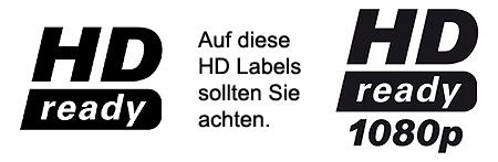 HD-ready und Full-HD Logos