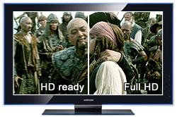 HD-ready und Full-HD Vergleich