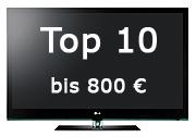 Top 10 Fernseher bis 800 €