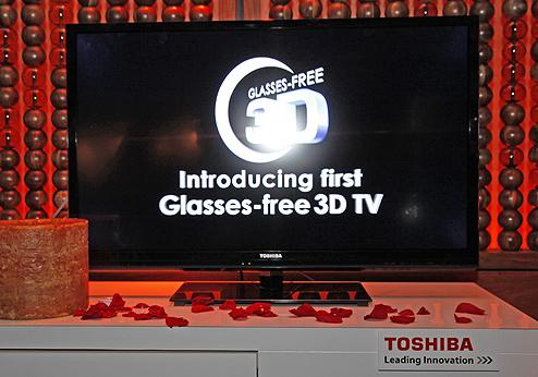 Toshiba 3D-TV ohne Brille
