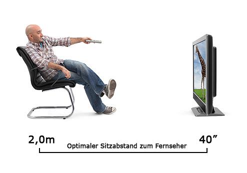 Sitzabstand zum Fernseher