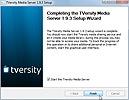 TVersity Media Server Installation abgeschlossen