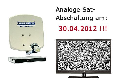 Analoge Satelliten-Abschaltung