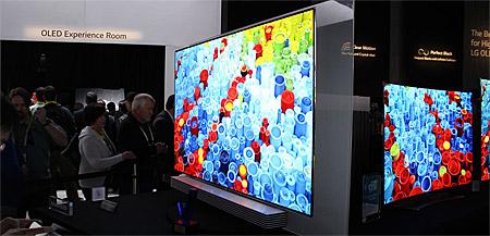 LG 4K OLED TV auf der CES 2015